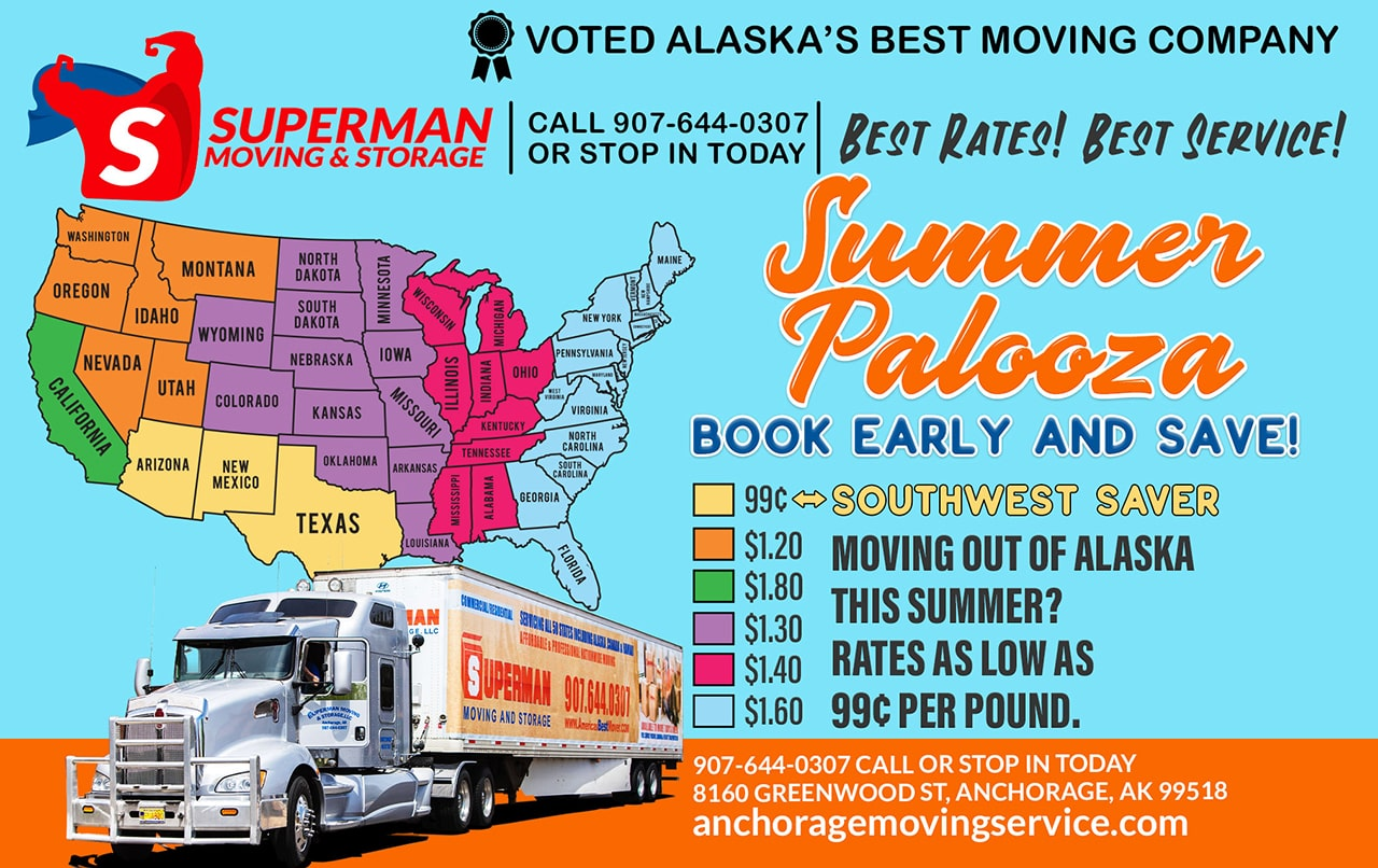 Superman Moving and Storage Summer Moving Special