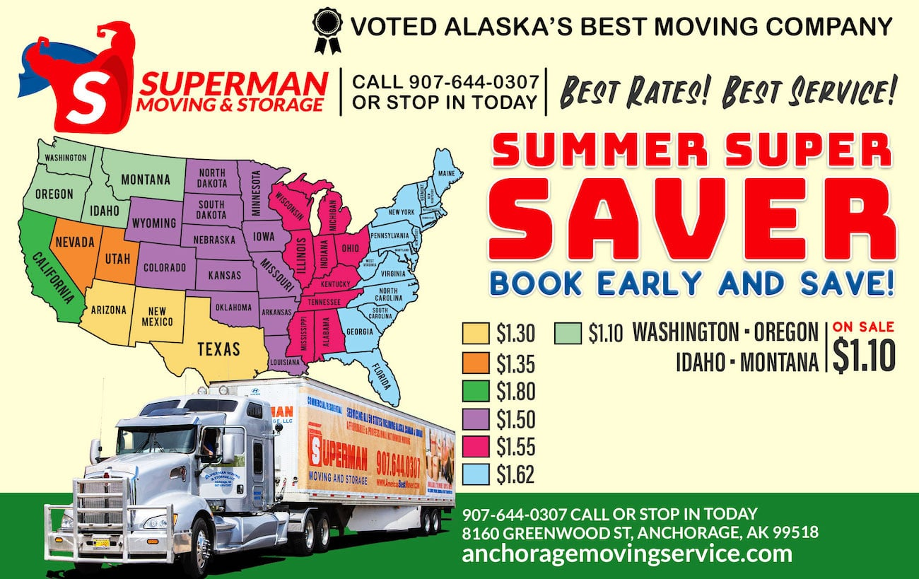 Superman Moving and Storage Summer Super Saver Moving Special