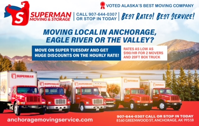 Superman Moving and Storage Local Moving in Anchorage Eagle River and The Valley