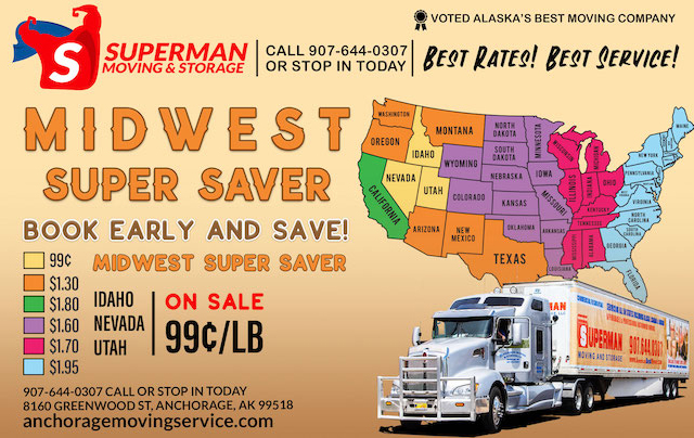 Superman Moving and Storage Midwest Super Saver